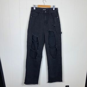 Momokrom Super Distressed High Waisted Jeans Sz 12